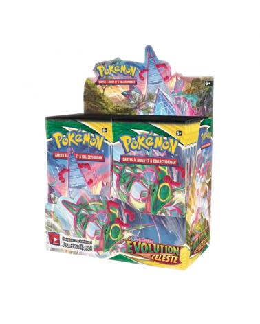 Découvrez la display évolution céleste du jeu de carte pokémon sur Cardstoys