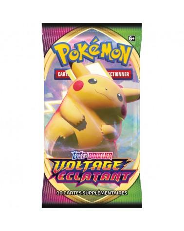 Booster pokémon Voltage éclatant contenant 10 cartes du TCG pokémon